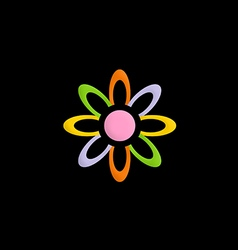 Colorful flower decorative logo vector