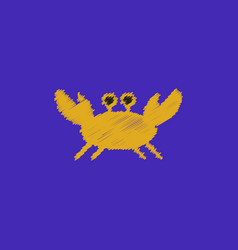 Crab in cartoon style seafood product design in vector