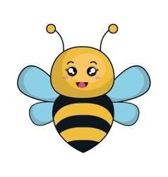Cute bee animal kawaii style vector