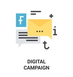 Digital campaign icon concept vector