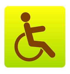 disabled sign brown icon at vector image vector image
