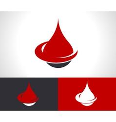Donate Blood Drop Logo Icon vector image