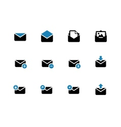 Email duotone icons on white background vector image vector image