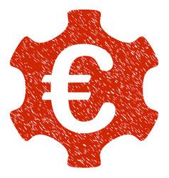 euro industry icon grunge watermark vector image