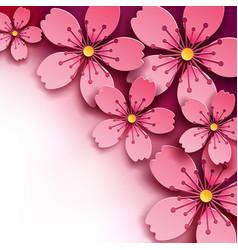floral background sakura flower vector image vector image