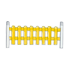 funny sketch fence from flat slats painted in vector image vector image