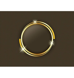 Gold ring with space for text in the middle of a vector image vector image