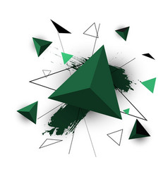 Green triangle abstract on white background vector