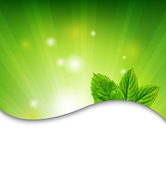 Green wall with green leaves vector
