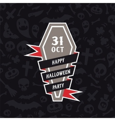 Halloween Symbols Seamless Pattern Contrast vector image