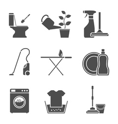 Housework icons vector