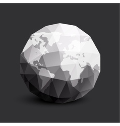 Isolated abstract black and white earth logo vector
