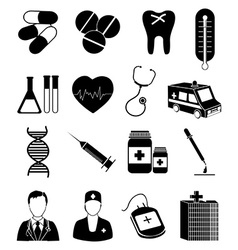 Medical healthcare icons set vector image