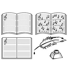 Music books vector
