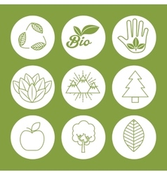 Natural and ecology design vector