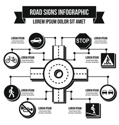 Road signs infographic concept simple style vector