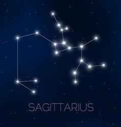 Sagittarius constellation vector