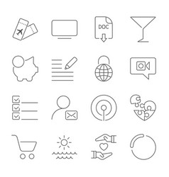 simple different icons set universal icons to use vector image