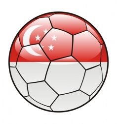 singapore flag on soccer ball vector image vector image