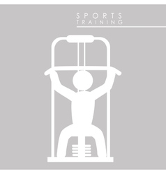 sports training vector image vector image