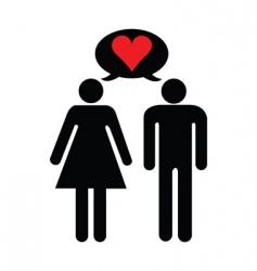 Valentines lovers vector