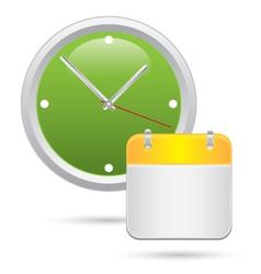 Wall clock with calendar notes vector image