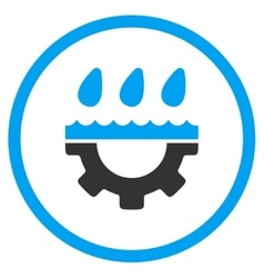 Water Service Rounded Icon vector image vector image
