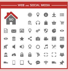Web and social media icons set vector