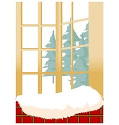 Winter window vector image