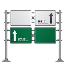 road Signs green vector image
