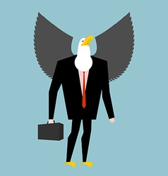 Eagle businessman business bird in suit winged vector