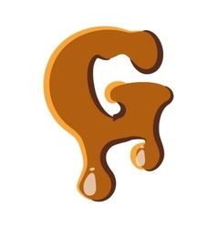 Letter g from caramel icon vector