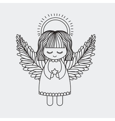 Angel decoration for christmas season vector