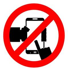 Ban use smart phone vector
