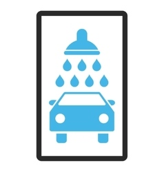 Car shower framed icon vector