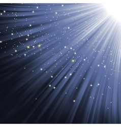 Snowflakes and stars on path of light EPS 8 vector image