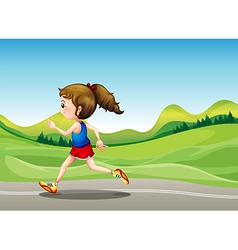 The female runner vector image