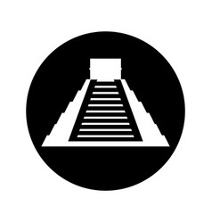 Mayan pyramid isolated icon vector