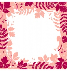 Autumn leaves grange border vector