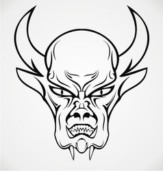 Devil face tattoo design vector