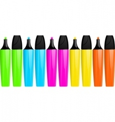 highlighter pens  vector image