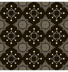 Seamless antique pattern ornament geometric stylis vector