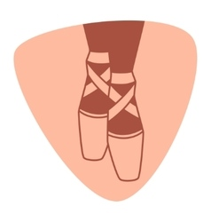 Emblem of dance studio with ballet pointe shoes vector