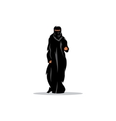 Arab woman in traditional dress sign vector