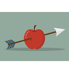 Apple with arrow vector