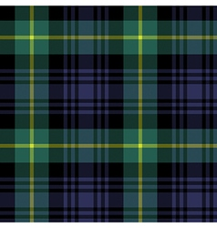 Gordon tartan fabric texture plaid pattern vector