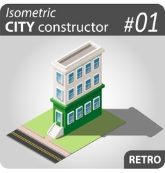 Isometric city constructor - 01 vector