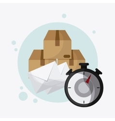 Delivery and chronometer design vector