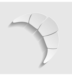 Croissant simple icon vector