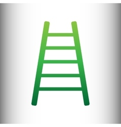 Ladder sign green gradient icon vector